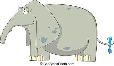 caractère, dessin animé, éléphant