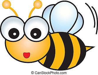 caractère, dessin animé, abeille