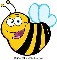 caractère, dessin animé, mascotte, abeille