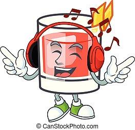 caractère, drink., musique écouter, dessin animé, sazerac
