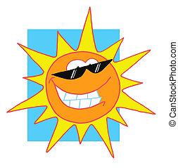 caractère, heureux, soleil, clair