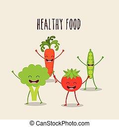 caractère, nourriture, conception