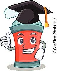 caractère, remise de diplomes, pulvérisation, boîte aérosol, dessin animé