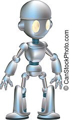 caractère, robot, mignon