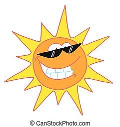 caractère, soleil, clair