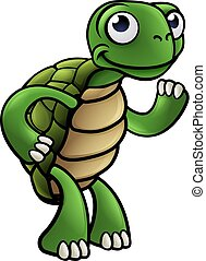 caractère, tortue, dessin animé