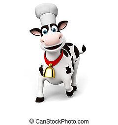 caractère, vache