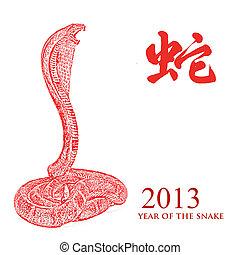 caractéristique, serpent, 2013, année