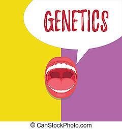 caractéristiques, concept, mot, business, texte, étude, variation, écriture, hérédité, genetics., hérité