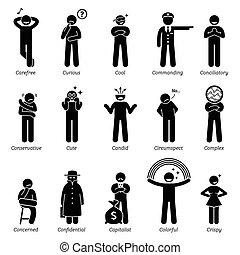 características, neutro, personagem