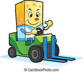 caracteres, mascota, queso