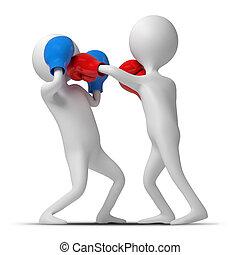 caracteres, ser, boxeo, en el anillo
