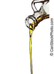 carafe, fluir, óleo