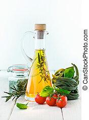 Carafe of olive oil