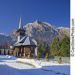 Caraiman church in Romania, Bucegi mountains