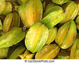 carambola fruit background