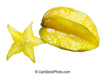 Carambola Fruit - Carambola star fruit isolated on white