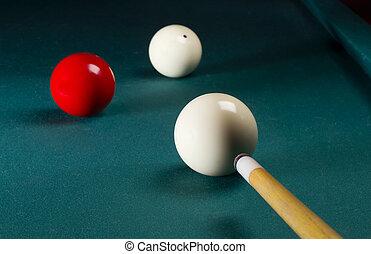 carambole, billiard