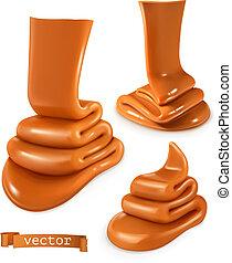 Caramel 3d vector