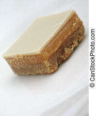 shortbread - caramel and yoghurt coated shortbread