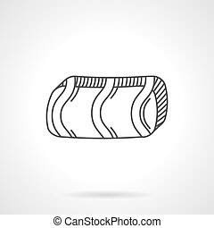 Caramel bar flat line vector icon