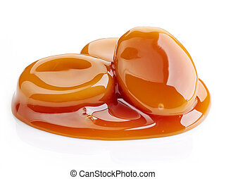 caramel candies and sweet sauce