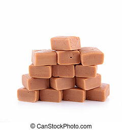 caramel candy isolated