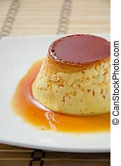 caramel custard, custard pudding, flan