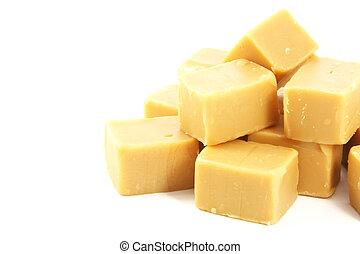 Caramel Fudge Blocks Candy