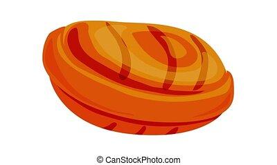 Caramel icon animation best object on white background