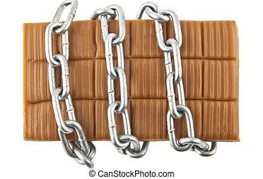 caramel in a chain