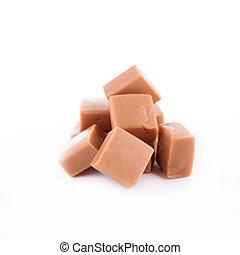 caramel isolated on white