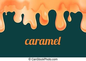 caramel, or, fondu