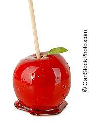 caramel, pomme, isolé