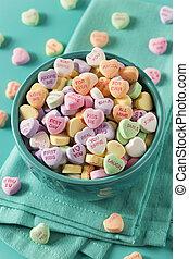 caramella, conversazione, cuori, per, giorno valentine