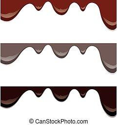 caramellato, gocciolamenti, cioccolato