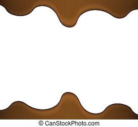 caramellato, liquido, cioccolato