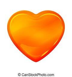 caramello, ambra, forma cuore, sciroppo