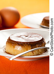 caramelo, flan, huevo, casero
