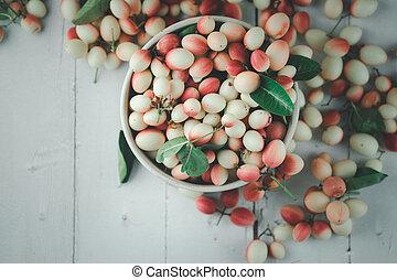 Carandas-plum or Karonda fruit (Carissa carandas L.)