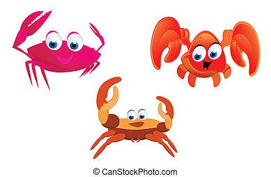 caranguejos, caricatura
