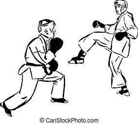 caratê, kyokushinkai, artes, marcial, esportes