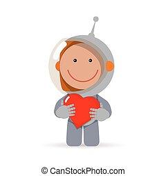 carattere, astronauta, valentina