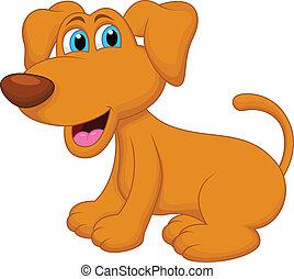 carattere, cane, cartone animato