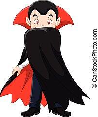 carattere, cartone animato, vampiro