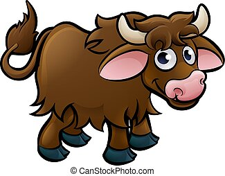 carattere, cartone animato, yak
