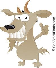 carattere, goat, strambo, cartone animato