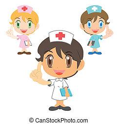 carattere, infermiera