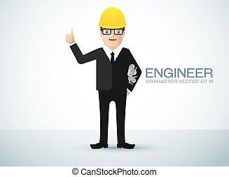 carattere, ingegnere