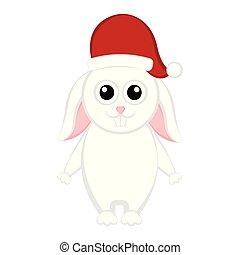carattere, natale, coniglio, cartone animato